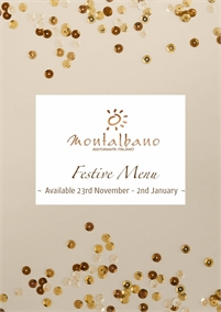 Festive Menu | Montalbano Italian Restaurant