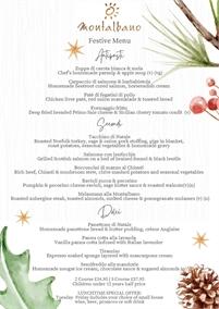 Festive Menus at Montalbano Italian Restaurant
