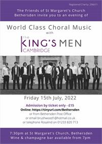 Concert by the Kings Men Cambridge | Bethersden