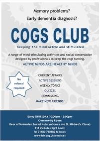 Cogs Club Tenterden meetings