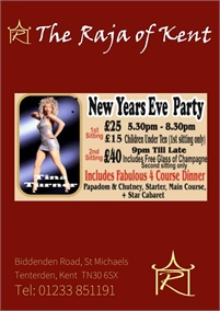 New Years Eve at The Raja of Kent