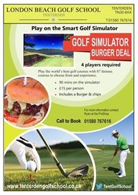 Play on the Smart Golf Simulator