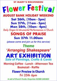 St Marys Flower Festival and Art Exhibition | Rolvenden