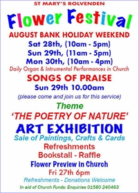 St Marys Flower Festival and Art Exhibition   Rolvenden