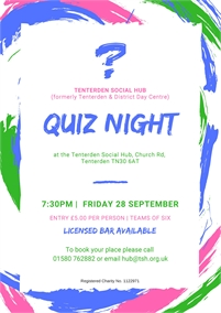 Quiz Night | Tenterden Social Hub