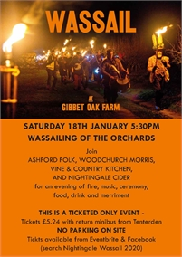 Wassail at Gibbet Oak Farm