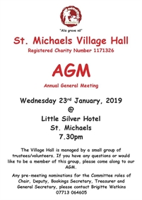 St Michaels Village Hall AGM