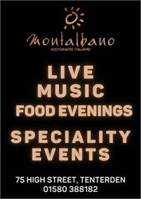 Live Music and Events   Montalbano Italian Restaurant