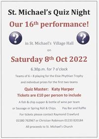 St Michaels Quiz Night