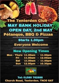 Bank Holiday | The Tenterden Club