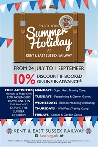 Enjoy Your Summer Holiday | Kent & East Sussex Railway