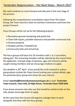 Tenterden Regeneration the Next Steps - March 2017
