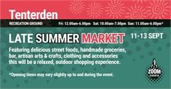 Press Release - Tenterden Late Summer Market 2020