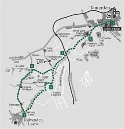 Walks around Tenterden : Walk 1 Rolvenden Layne