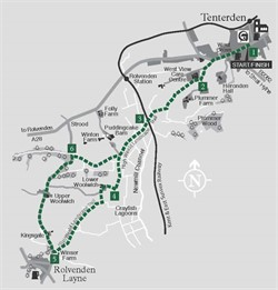 Walks around Tenterden : Walk 1 Rolvenden Layne