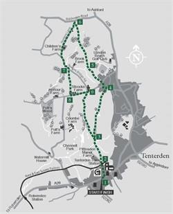 Walks around Tenterden : Walk 4 Readers Bridge