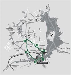 Walks around Tenterden - Walk 6 Chennell Park circular